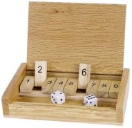 Goki Toys pure Würfelspiel Shut the box