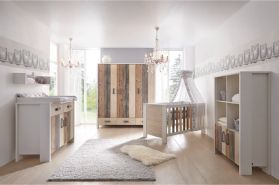 Schardt 'Woody' 3-tlg. Kinderzimmer Set 3-türig inkl. Umbauseiten