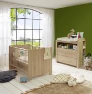 Trendteam 3-tlg. Babyzimmer-Set Olivia/Julie Eiche hell