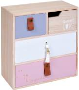 Home Styling Collection Minikommode, Rosa, 4 Schubladen
