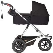 Mountain Buggy 'Urban Jungle 3' Kombikinderwagen Black mit Babyschale in Deep Black