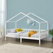 [en.casa] Hausbett, Weiß, 90x200 cm
