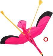 HQ 106518 x Flamingo 3D Kinderdrachen Einleiner, ab x Jahren, 100x135 cm, inkl. 17kp Polyesterschnur 40m auf Spule, 2-4 Beaufort