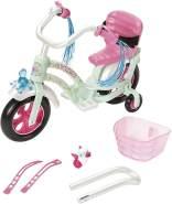Zapf Creation 827208 BABY born Play & Fun Fahrrad Puppenzubehör mit Licht-Funktion und Hupe und weiteren Extras, 43 cm