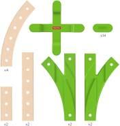 Fisher-Price GFP81 - Wunder Werker Holzspielzeug Erweiterungsset Schienen aus FSC zertifiziertem Holz, Spielzeug ab 3 Jahren