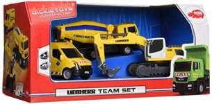 Dickie 203725002 Liebherr Team Set (Farblich sortiert)