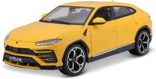 Bburago Lamborghini Urus: Modellauto im Maßstab 1:18, Türen, Kofferraum und Motorhaube zum Öffnen, lenkbar, 26 cm, gelb (18-11042Y)