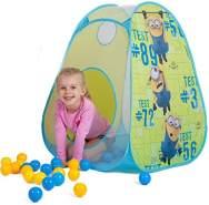 John 74236 - Pop Up Ball-Haus Minions mit 30 Pe-Bällen, gelb