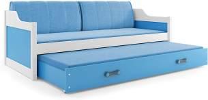 Interbeds 'DAVID' Funktionsbett weiß/blau 80x190cm
