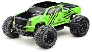 Absima Hot Shot Absima 1:10 RC Modellauto AMT3.4 Monster - Truck mit Brushed Elektroantrieb, 2,4 GHz Fernsteuerung und Allradantrieb RTR, Neon Grün