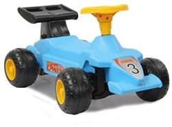 Jamara 460310 - Rutscher Formula Kid Blau - Stabil und Robust, Haltegriffe im Heckflügel, Kippschutz, ansprechendes Design in Rot oder Hellblau, Hupe