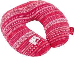 SIGIKID Mädchen, Nackenkissen Schnuggi mit Stützfunktion, Reisekissen, empfohlen ab 12 Monaten, rot/rosa, 40833