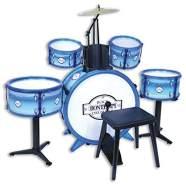 Bontempi–514831–Akku Rock Drummer 5Trommeln, 514831, weiß Blau