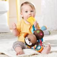 Skip Hop Bandana Buddies Aktivitätsspielzeug, Plüschtier für Babys und Kinder, mehrfarbig, Affe