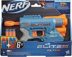 Nerf Elite 2.0 Volt SD-1 Blaster – 6 Nerf Darts, Ziel-Lichtstrahl, 2-Dart Aufbewahrung, 2 Tactical Rail Steckschienen