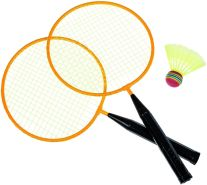 Idena Federball Set Junior 2 Schläger und 1 Ball mit Tasche Gartenspielzeug für Kinder