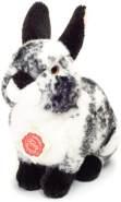 Teddy Hermann 937883 Hase sitzend Plüsch, Schwarz/weiß, 22 cm