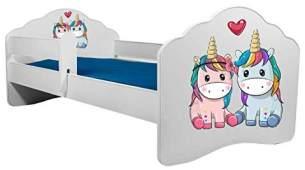 Angelbeds 'Railing Fala' Kinderbett 80 x 160 cm, Motiv E3, mit Lattenrost, Matratze und mit Bettschublade