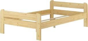 Erst-Holz Breites robustes Einzelbett 120x200 Kiefer massiv ohne Zubehör