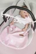 BO Baby's Only - Sommer Fußsack Autositz 0+ Star - Baby Blau/Grau - 50% Baumwolle/50% Polyacryl