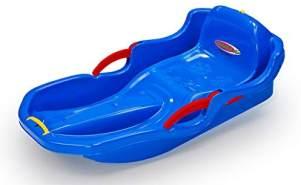 Jamara 460539 Snow Play Bob Comfort 80 cm blau mit Bremse-Lenken durch Bremshebel, aerodynamische Bauweise, langlebiger, schlagzäher Kunststoff-bequemer, ergonomischer Sitz