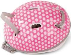 Götz 3402331 Fahrradhelm White Dots - Reithelm mit weißen Punkten für Puppen - tragbar für Stehpuppen von 45-50 cm und Babypuppen 42-46 cm