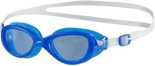 Speedo Kinder Futura Classic Schwimmbrille, Clear/Neon Blue, One Size