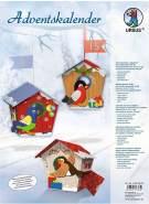 Ursus 17820002 - Adventskalender Vögelchen, Set mit Materialien für 24 Geschenkboxen in 3 verschiedenen Motiven, je ca. 9x9x11 cm, aus Fotokarton, inklusive Zubehör, zum Befüllen und Verschenken