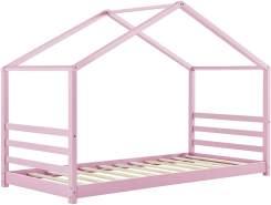 [en.casa] Hausbett Rosa 90x200cm, inkl. Lattenrost