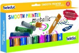 Beleduc 52050 - Smooth Metallic Painter, 12er Set, Wachsmalstifte, Bastelspaß