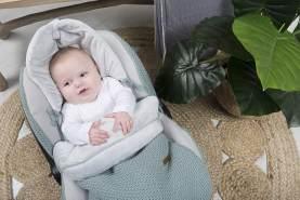BO Baby's Only - Fußsack Autositz 0+ Flavor - Klassisch Rosa - 100% Polyacryl