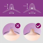 Philips Avent Brusthütchen SCF153/01, kleine Größe, ultradünn mit einzigartiger Form
