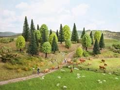 NOCH 26911 - Mischwald, 10 Bäume, 5-14 cm hoch