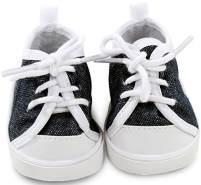 Götz 3402543 Sneaker Denim Puppenschuhe - Puppenkleidung & Puppenzubehör für Babypuppen Gr. S von 30 - 33 cm und Stehpuppen Gr. XS von 27 cm