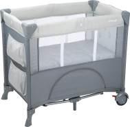 Safety 1st Reisebett Mini Dreams, praktisches Kinder-Reisebett mit 2 Rollen (L88 x H76 x W59 cm), inkl. Matratze und Transporttasche, kompakt zusammenfaltbar, Geometric