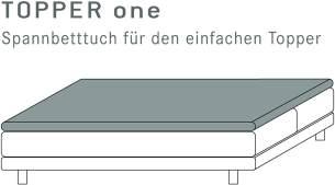 Kneer Qualität 22 Vario-Stretch Topper-Spannbetttuch 140x200x4-12 cm 84 schiefer