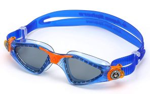 Aqua Sphere Unisex-Youth Kayenne Jr Schwimmbrille, blau orange/getöntes Glas, Einheitsgröße