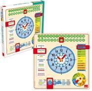 GOULA - Kalenderuhr in Großformat - Holzspielzeug für Kleinkinder - Ab 3 Jahren