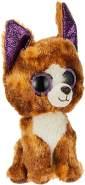 TY 36878 Dexter, Chihuahua 15cm, mit Glitzeraugen, Beanie Boo's, 15 cm, Braun