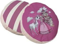 Ticaa 'Prinzessin' 2-tlg. rundes Kissen-Set rosa