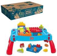 MEGA BLOKS CNM42 - Bau- und Spieltisch, 25 Bausteine, ab 12 Monaten
