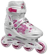 Inline-Skates RocesMädchen Jokey 3.0 Mädchen weiß / rosa Größe 26-29