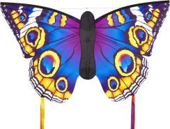 HQ106548 - Butterfly Kite Buckeye 'L' Kinderdrachen Einleiner, ab 5 Jahren, 80x130cm und 2x600 cm Drachenschwanz, inkl. 17kp Polyesterschnur 40m auf Spule, 2-5 Beaufort