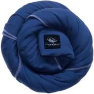 manduca Sling > royal < Elastisches Babytragetuch mit GOTS Zertifikat, für Neugeborene ab Geburt (royal/blau, 5,10m x 0,60m)