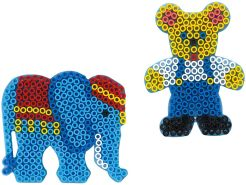 Hama 8251 - Maxi Stiftplatten Set, Elefant und Teddy, transparent