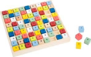 small foot 11164 Sudoku Educate aus Holz, schult das Zahlenverständnis, Knobelspiel, Lernspiel, ab 6 Jahren Spielzeug, Mehrfarbig