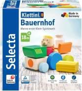 Selecta 62076 Klettini, Bauernhof, Klett-Stapelspielzeug, 7 Teile, bunt