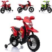 ES-TOYS - Kinder Elektromotorad Cross Style, rot