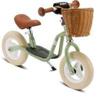 PUKY 4093 'LR M CLASSIC' Laufrad, für Kinder ab 85 cm Körpergröße, bis 25 kg belastbar, höhenverstellbar, inkl. Korb, retro-grün
