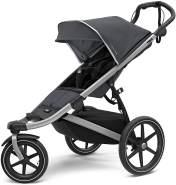 Thule Urban Glide 2 Jogging-Kinderwagen, Unisex, alle Gelände Kinderwagen, 10101924, Dark Shadow/Silber Rahmen, Einzelbett
